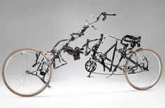 created by Netherlands-based artist Victor Sonna using recycled parts of abandoned bikes