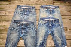 Years in Raw Denim 6 Years in Raw Denim. Love Years in Raw Denim. Nudie Jeans, Denim Pants, Denim Shirts, Men's Jeans, Levis, Love Jeans, Jeans Style, Hot Men, Edwin Jeans