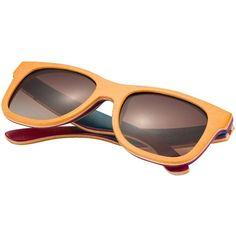PilotMan Men's Wood Sunglasses Polarized Floating Wayfarer Wooden... (64 AUD) ❤ liked on Polyvore featuring men's fashion, men's accessories, men's eyewear, men's sunglasses, mens wooden sunglasses, mens wayfarer sunglasses, mens sunglasses and mens eyewear
