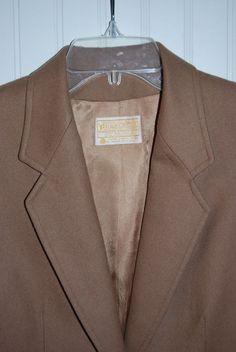 Pendleton Blazer Womens Medium M Wool Tan Camel Color Made in USA EUC #Pendleton #Blazer