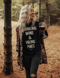 The Parks Drinking Wine Women's Rolled Cuff Muscle Tank