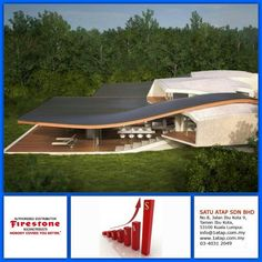 """An outstanding building masterpiece - they are using Firestone EPDM roof membrane.  Every """"Masterpiece"""" marks the attainment of its age and endures as profit, reputation & prosperity. Your investment in Firestone roofing system bringing you faster to your aim.  Firestone endures profit, reputation & prosperity for long time."""