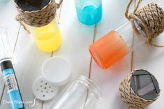Make inexpensive DIY solar lanterns using spice jars and glass paint