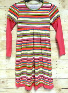 Childrens Place Girls Color Striped Long Dress Size 14 100% Cotton #ChildrensPlace