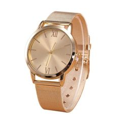 Gender: Women Style: Fashion & Casual Movement: Quartz Case Material: Alloy Band Length: 22 cm Clasp Type: Buckle Feature: Auto Date,Shock Resistant Dial Diameter: 40 mm Dial Window Material Type: Acr