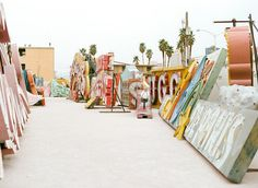 Neon Sign Graveyard in Vegas.  I wanna go there!!!! I wanna take home a sign!