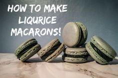 How to make liqurice macarons! Macarons, Convenience Store, How To Make, Convinience Store, Macaroons