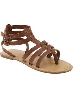 Girls Gladiator Thong Sandals