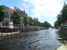 Canal cruising at Amsterdam