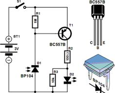 infrared detector circuit diagram using bc557