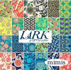 Amy Butler Fabric Collections | LARK Complete Collection / Amy Butler Fabric / Quilt Fashion Fabric ...