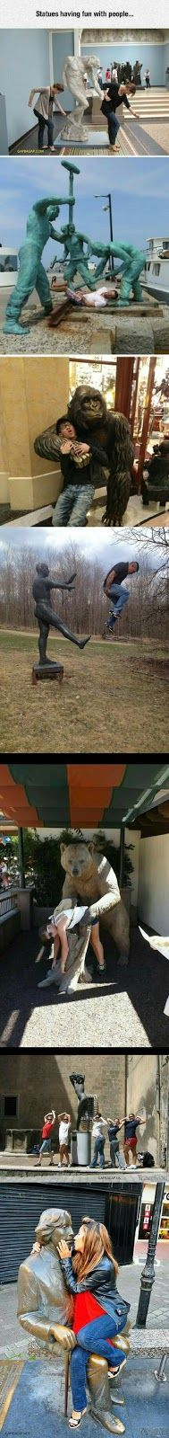 8+ Funny Pictures Of People Having Fun With Statues