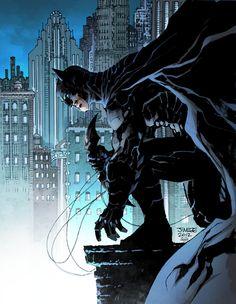 "cyberclays: "" Gotham's Avenger - Batman fan art Pencils and Inks by Jim Lee Colors by Jeremiah Skipper """