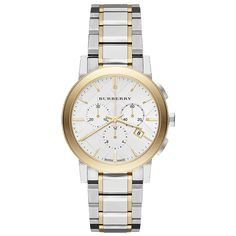 Burberry City #TwoTone #Gold #Chronograph #Designer #Watch #Ladies #Gift