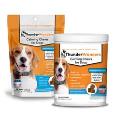 ThunderWunders for Dogs - Calming Chews – ThunderShirt Dogs And Fireworks, Dog Weight, Anxiety Causes, Dog Diet, Rest And Relaxation, Doggy Stuff, Separation Anxiety, Tasty Bites, Thunderstorms