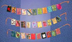 Artist Trading Cards (ATC)  a activity for kids and adults.  We are going to do this in girl scouts to take to swap meeetings.