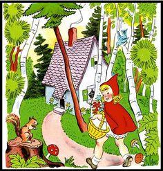 Bilder till hela sagan. Red Riding Hood Story, Preschool Printables, Red Hood, Art Clipart, Paint Shop, Textile Patterns, Little Red, Nursery Rhymes, Pattern Wallpaper