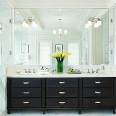 Espresso Cabinets, Contemporary, bathroom, Kitchens by Deane