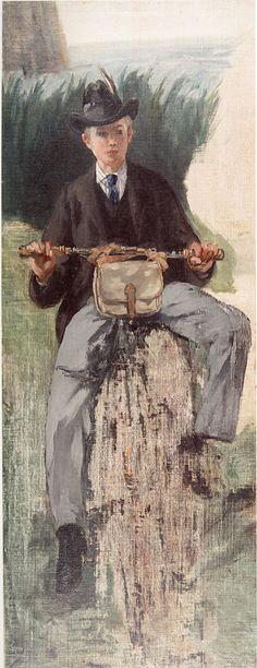 Manet, De velocipede; Leon Koëlla -Leenhoff