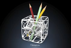 Neuron Cube - Unique pencils holder designed with 3D Voronoi.