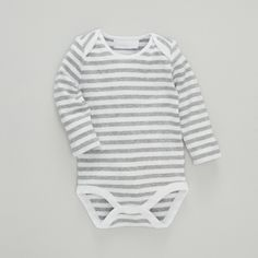 Striped Envelope Neck Baby Bodysuit | The White Company