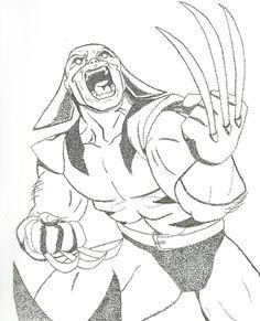 Wolverine en Puntillismo, amateur.