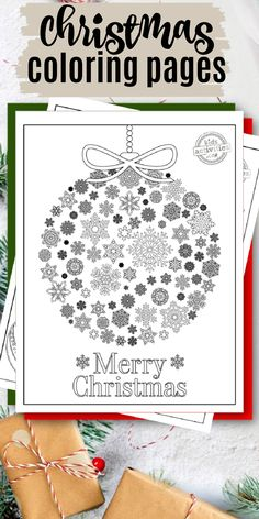 Fun and free Christmas coloring pages for adults!