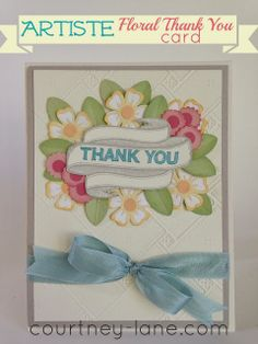 Artiste Floral Thank you card