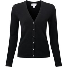 Cashmere V Neck Cardigan ($148) ❤ liked on Polyvore featuring tops, cardigans, black top, black cashmere cardigan, black fitted cardigan, cashmere tops e vneck cardigan