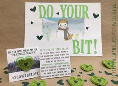 make, wear and share a green heart, #showthelove,Crafting With Angels, The Climate Coalition
