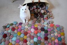 Great way to use leftover yarn  Ravelry: the beekeeper's quilt pattern by tiny owl knits