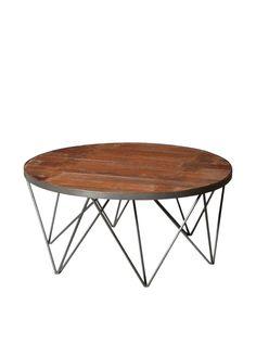 Moti Napa Round Coffee Table, Brown at MYHABIT
