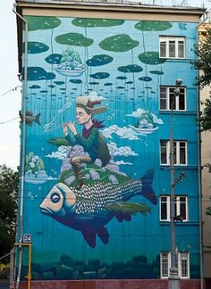 Rustam QBic New Mural In Moscow, Russia