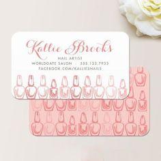 sencillas tarjetas de presentacion de uñas