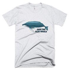Save the Blue Whale - Men Cotton-S, 2XL, 3XL
