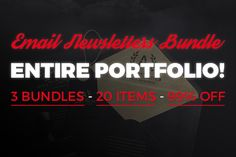 PORTFOLIO SALE - ALL ITEMS (99% OFF) by Mail Goods on Creative Market