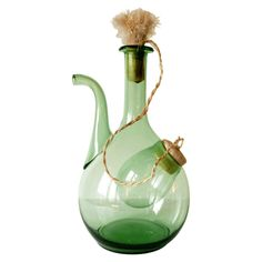 Green Wine Decanter with Ice Pocket #huntersalley