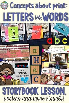 Teach kindergarten or first grade? Ensure your students know the difference between letters and word Reading Resources, Teaching Reading, Teaching Ideas, Guided Reading, Learning, Kindergarten Lesson Plans, Kindergarten Literacy, Literacy Centers, Back To School Activities