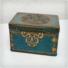 Very cool vintage tea tins