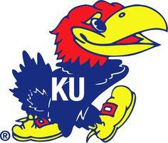 Kansas Jayhawks Logo - Tippsy looking darker blue bird with KU in white on his chest (SportsLogos.Net)