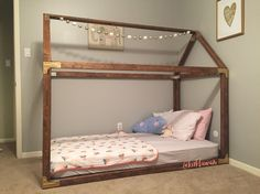 DIY Twin House Bed  Plans found at http://www.thedesignconfidential.com/2014/09/free-diy-furniture-plans-how-to-build-indoor-outdoor-house-bed-playhouse-outdoor-daybed-lounge