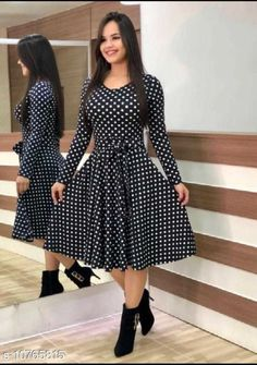 Dresses Fancy Partywear Women Dresses Fabric: Crepe Sleeve Length: Three-Quarter Sleeves Pattern: Printed Multipack: 1 Sizes: S (Bust Size: 36 in Length Size: 41 in)  XL (Bust Size: 42 in Length Size: 41 in)  L (Bust Size: 40 in Length Size: 41 in)  M (Bust Size: 38 in Length Size: 41 in)  XXL (Bust Size: 44 in Length Size: 41 in) Country of Origin: India Sizes Available: S, M, L, XL, XXL *Proof of Safe Delivery! Click to know on Safety Standards of Delivery Partners- https://ltl.sh/y_nZrAV3  Catalog Rating: ★3.9 (490)  Catalog Name: Classy Modern Women Dresses CatalogID_1981127 C79-SC1025 Code: 973-10765815-