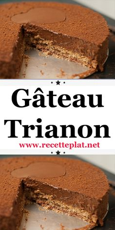 gateau trianon - The world's most private search engine Fall Dessert Recipes, Desserts Menu, Fall Recipes, Delicious Desserts, Chocolate, Cake Cookies, Coco, Food To Make, Food Porn