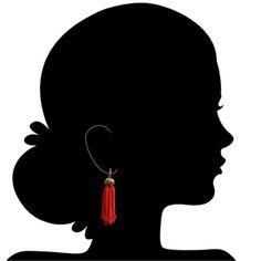 Hoop earring by Arpita Toor. Embrace Tradition.