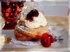 The Zeppole S. Joseph - puffs with cream and cherries
