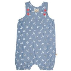 Buy Frugi Organic Baby Anchor Chambray Dungarees, Blue/White from our Baby & Toddler Clothing Offers range at John Lewis & Partners. Baby Girl Dresses, Baby Dress, Girl Outfits, Organic Baby Clothes, Baby & Toddler Clothing, Crewel Embroidery Kits, Ethical Shopping, Dungarees, Simple Dresses