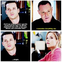 Sophia Bush. Jesse Lee Soffer. Erin Lindsay. Jay Halstead. Chicago PD. Linstead. Voight.