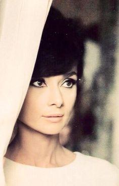 "hepburndeneuvekelly: Audrey Hepburn on the set of ""How to Steal a Million"" dir. William Wyler (1966)."