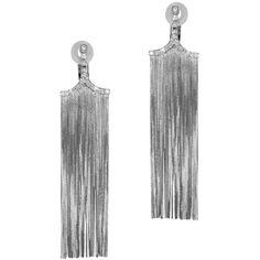 """Jack Vartanian """"""""New Vintage"""""""" Diamond Tassel Earrings (11,730 CAD) ❤ liked on Polyvore featuring jewelry, earrings, vintage diamond earrings, diamond jewellery, vintage diamond jewelry, tassel earrings and fringe jewelry"""