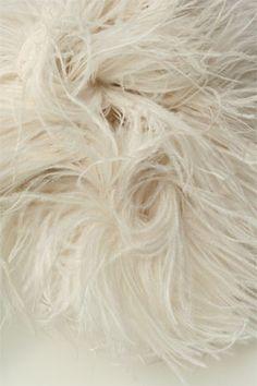 Natural Ostrich Feather Trim   Autumn Design Inspiration